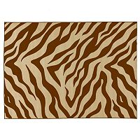 Infinity Home Kings Court Zebra Print Rug - 3'3'' x 4'7''