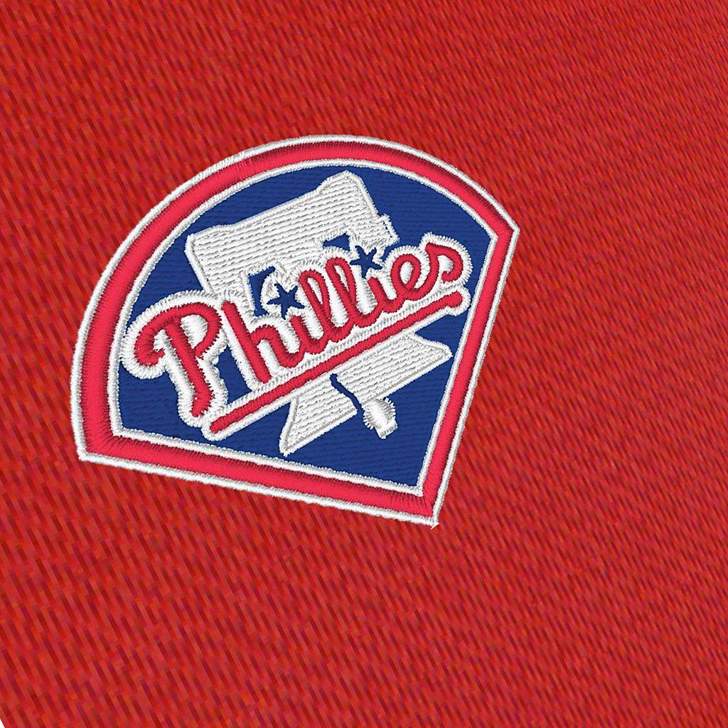 Men's Antigua Philadelphia Phillies Delta 1/4-Zip Pullover