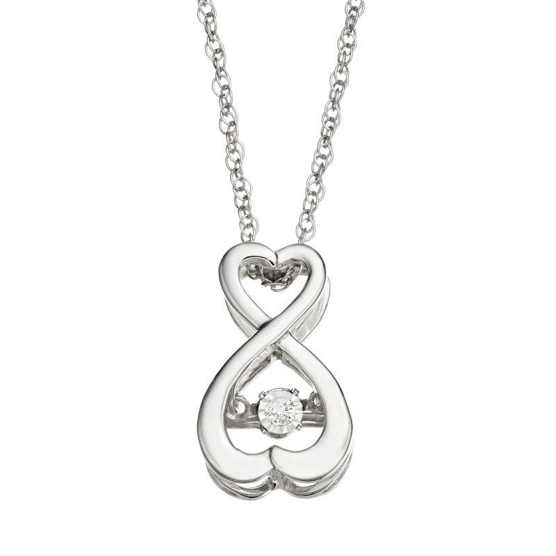 silver double heart jewelry kohls