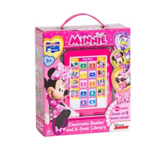 Disney Mickey Mouse and Friends Minnie Mouse Me Reader Electronic Reading Pad and Library Set