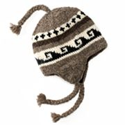 SIJJL Wavy Fleece-Lined Wool Trapper Hat