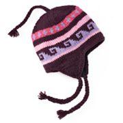 SIJJL Wavy Fleece-Lined Wool Trapper Hat