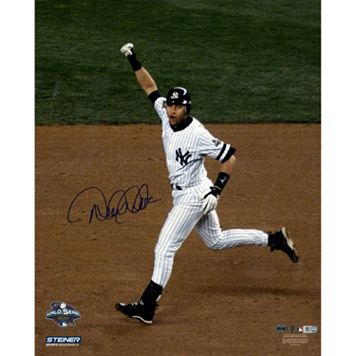 Steiner Sports New York Yankees Derek Jeter 2001 World Series Home Run Rounding Bases 16'' x 20'' Signed Photo