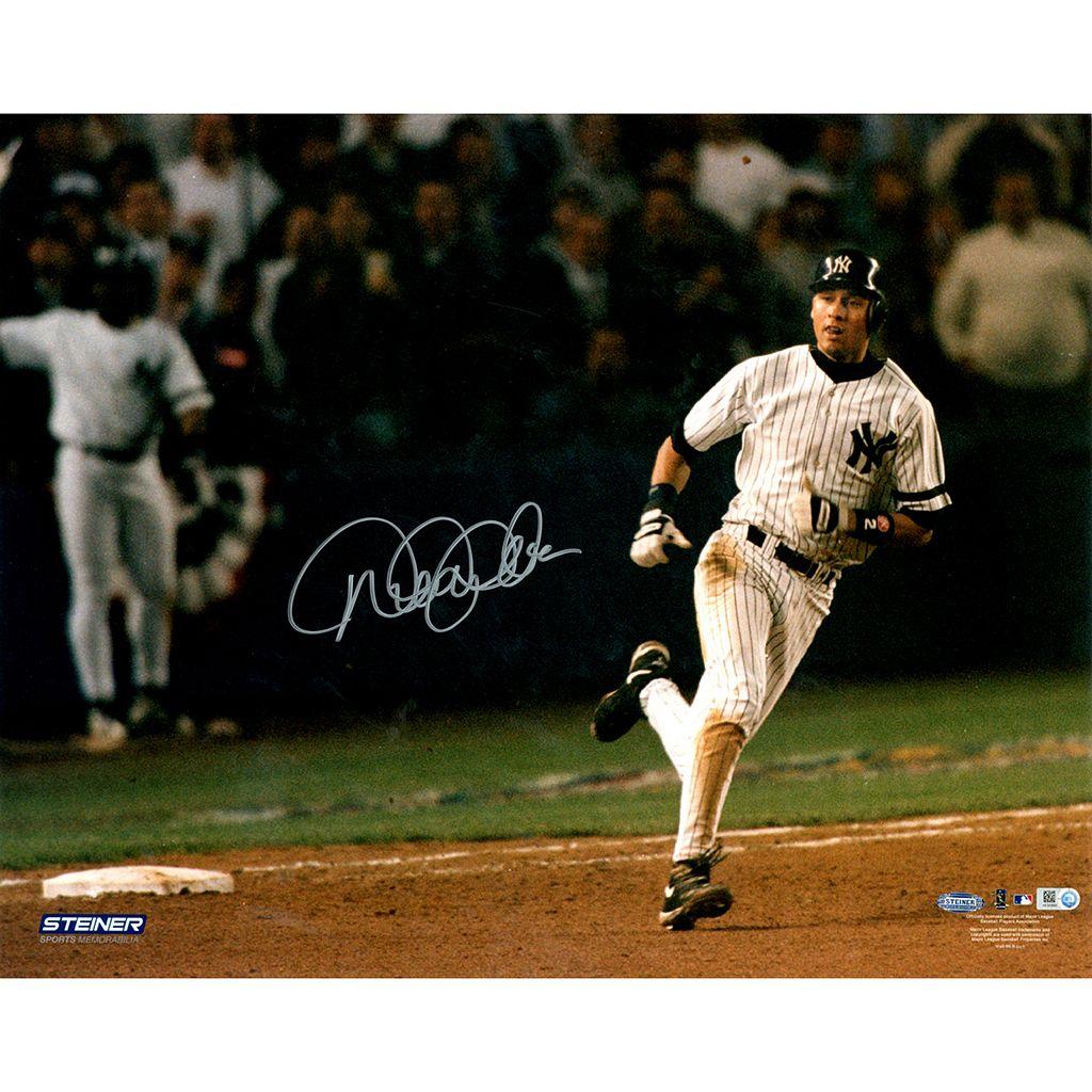 Steiner Sports New York Yankees Derek Jeter Rounding Bases After 1996 ALCS Jeffrey Maier Home Run 16'' x 20'' Signed Photo