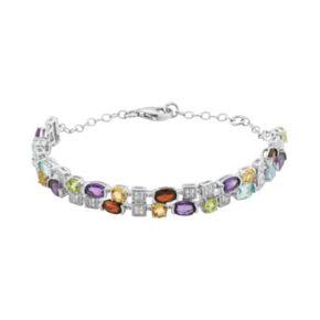 Gemstone Sterling Silver Bracelet