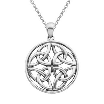 pendant silver jewellers wing chain angel and celtic claddagh