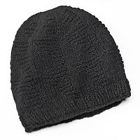 SIJJL Pyramid Cable-Knit Wool Beanie Hat