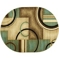 Infinity Home Barclay Arcs & Shapes Rug - 5'3'' x 6'10'' Oval