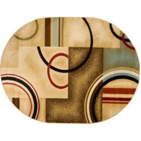 Infinity Home Barclay Arcs and Shapes Rug - 5'3'' x 6'10'' Oval