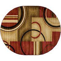 Infinity Home Barclay Arcs & Shapes Rug - 5'3'' x 6'10'' Oval