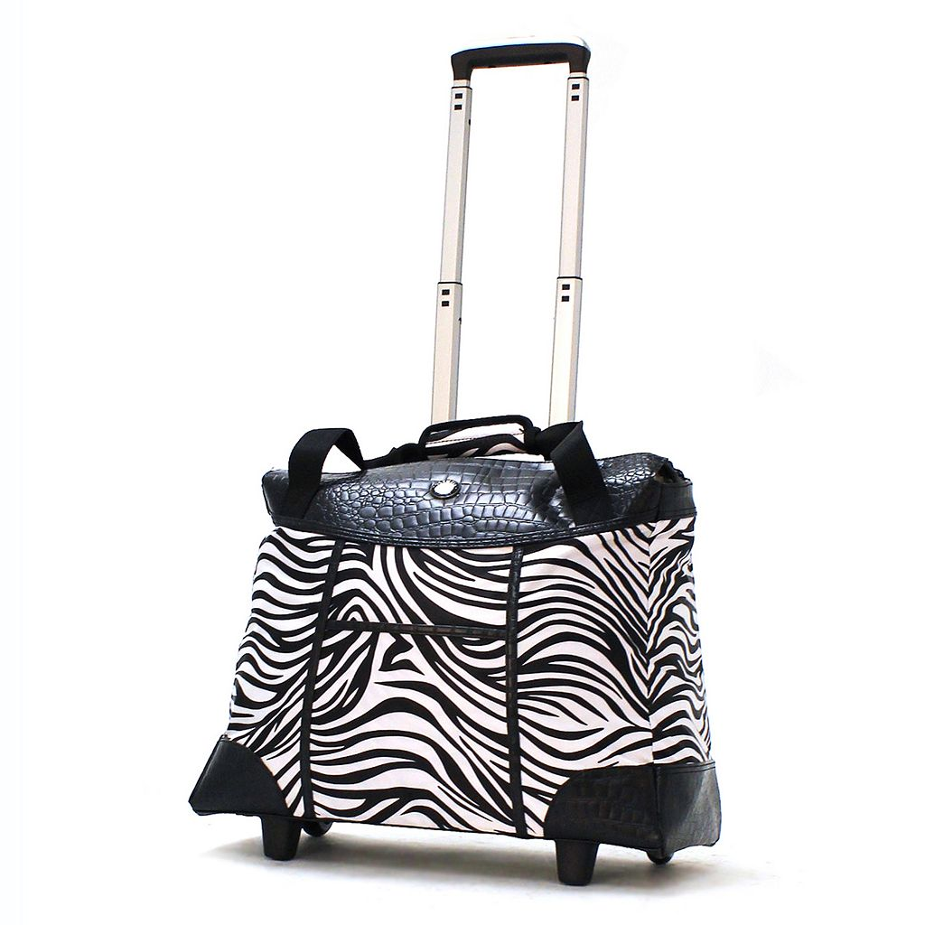 Olympia Deluxe Fashion 15-Inch Laptop Wheeled Weekender Bag