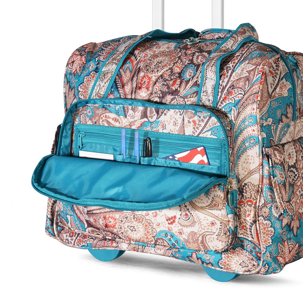 Olympia Deluxe Paisley 15-inch Wheeled Laptop Overnighter Bag