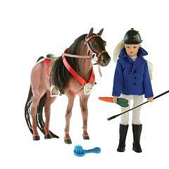 Paradise Horses Western Doll & Horse Set by