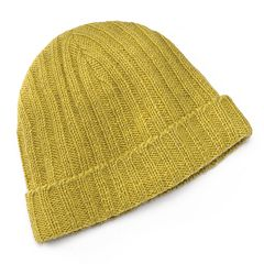 SIJLL Yellow Knit Wool Beanie Hat