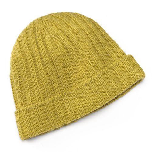 SIJLL Yellow Knit Wool Beanie Hat