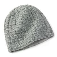SIJJL Nordic Cable-Knit Wool Beanie Hat