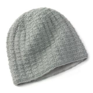 SIJJL Nordic Cable-Knit Wool Beanie Hat