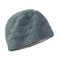 SIJLL Pyramid Knit Wool Gray Beanie Hat
