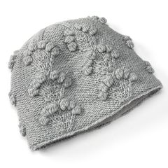SIJLL Embroidered Blossoms Wool Beanie Hat