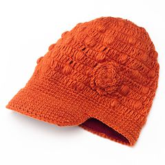 SIJLL Flower Bill Wool Hat