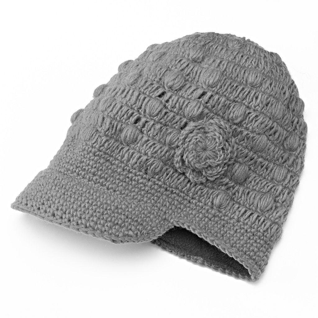 SIJLL Flower Bill Wool Hat