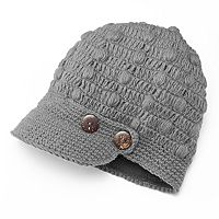 SIJLL Button Bill Wool Hat