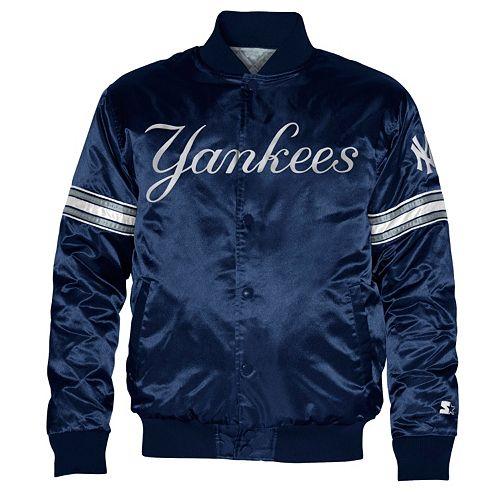 7f92e788623 Men s Starter New York Yankees Satin Varsity Lightweight Jacket