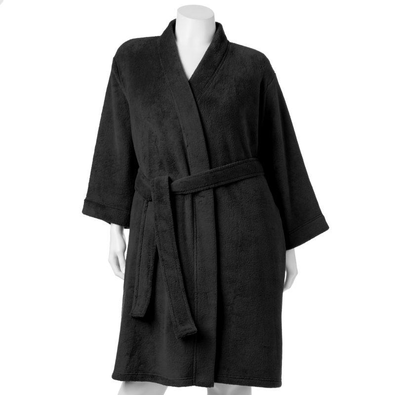 Jockey Plush Fleece Wrap Robe - Women's Plus Size