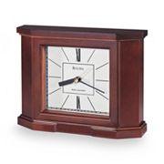 Bulova Altus Wood Atomic Timekeeping Table Clock - B1854
