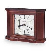Bulova Altus Wood Atomic Timekeeping Table Clock - B1854