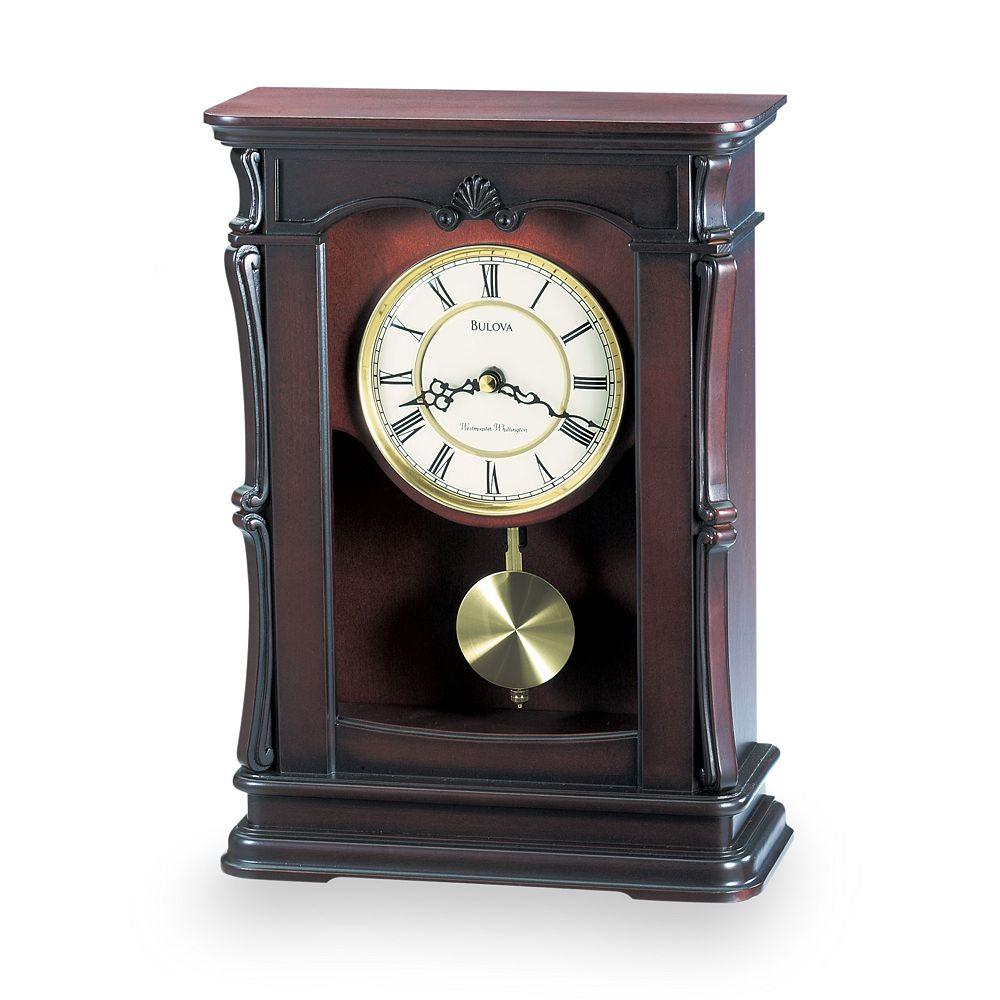Bulova Abbeville Wood Musical Mantel Clock - B1909