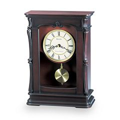 Bulova Abbeville Wood Musical Mantel Clock - B1909
