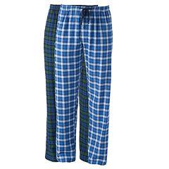 Men's Hanes 2 pkPlaid Flannel Lounge Pants