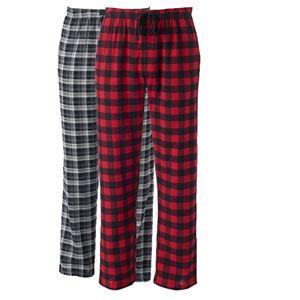 Men's Hanes 2-pk. Plaid Flannel Sleep Pants