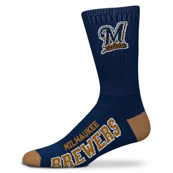 Adult For Bare Feet Milwaukee Brewers Team Color Crew Socks