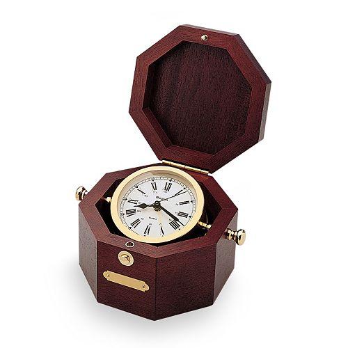 Bulova Quartermaster Maritime Wood Clock - B7910
