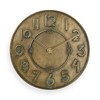 Bulova Frank Lloyd Wright Exhibition Typeface Wall Clock - C3333