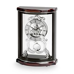 Bulova Wentworth Wood Skeleton Mantel Clock - B2025