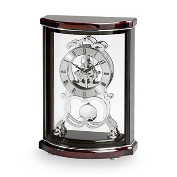 Bulova Wentworth Wood Skeleton Mantel Clock - B2025