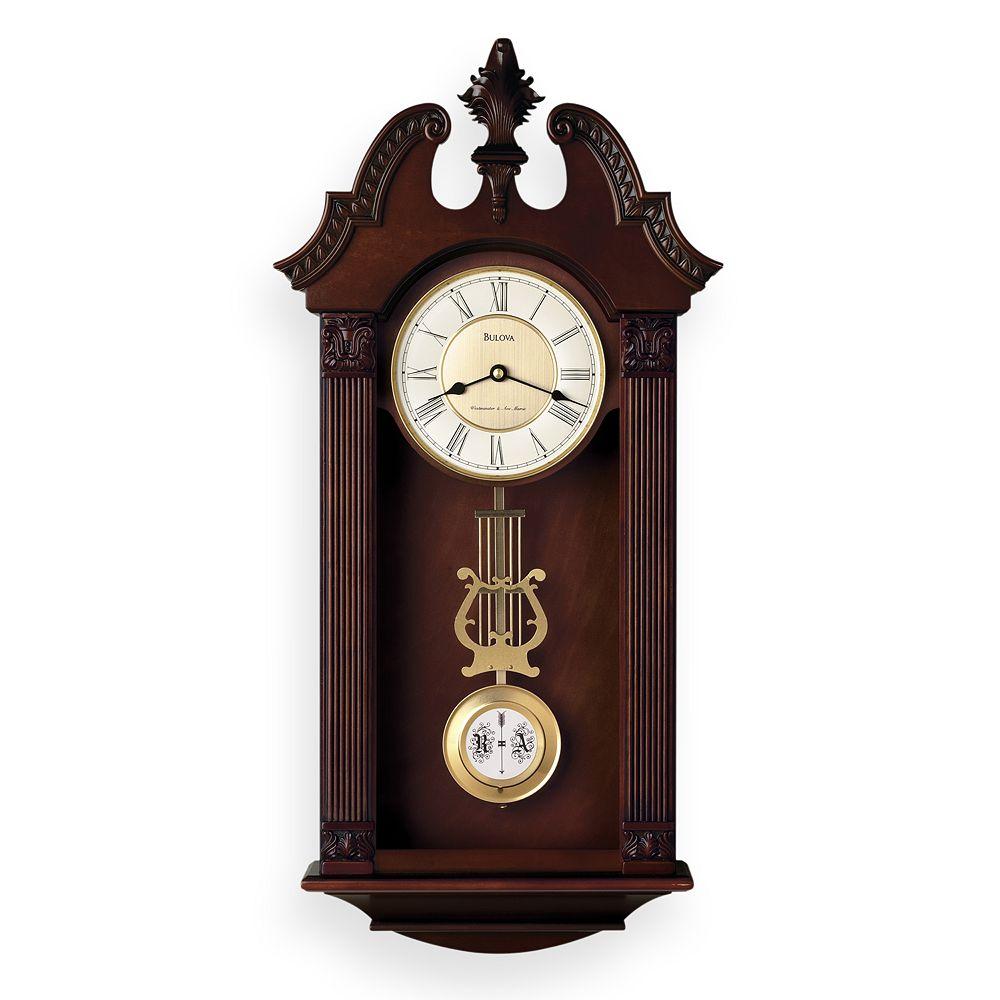Bulova Ridgedale Wood Musical Wall Clock C4437