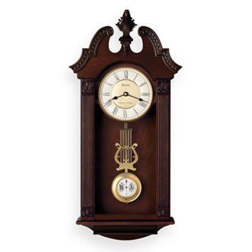 Bulova Ridgedale Wood Musical Wall Clock - C4437