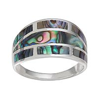 Sterling Silver Abalone Cigar Ring