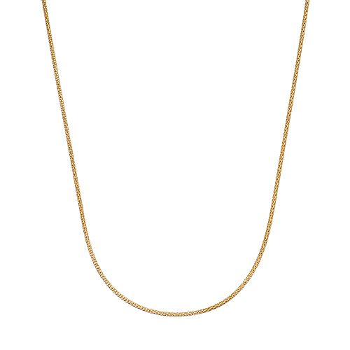 24k Gold Over Silver Popcorn Chain Necklace