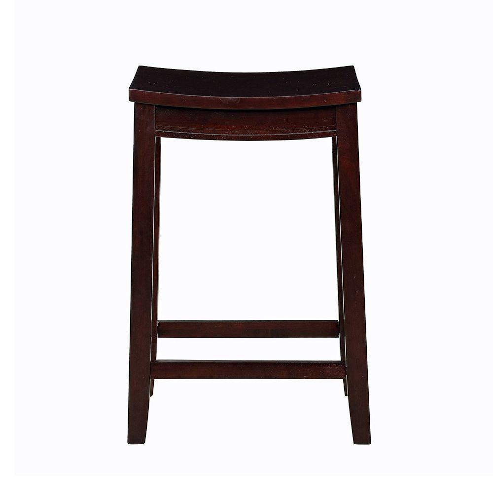Linon Allure Wood Counter Stool