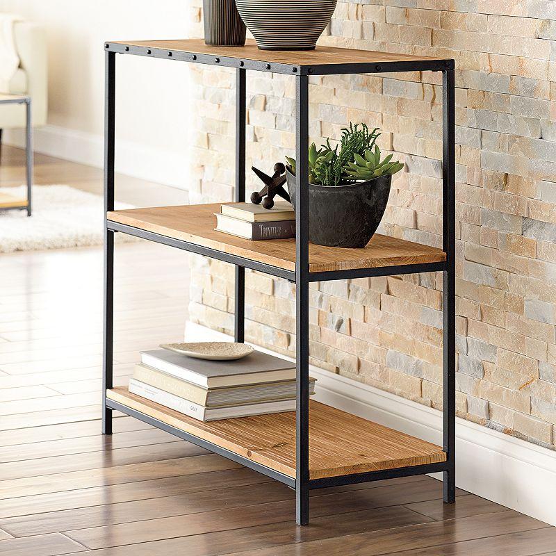 sonoma life style clayton 2 shelf small bookcase. Black Bedroom Furniture Sets. Home Design Ideas