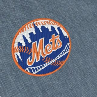 Men's Antigua New York Mets Chambray Button-Down Shirt