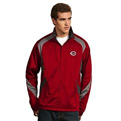 Men's Antigua Cincinnati Reds Tempest Desert Dry Xtra-Lite Performance Jacket