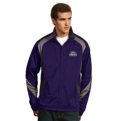 Men's Antigua Colorado Rockies Tempest Desert Dry Xtra-Lite Performance Jacket
