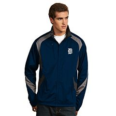 Men's Antigua Detroit Tigers Tempest Desert Dry Xtra-Lite Performance Jacket