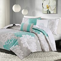 Madison Park Brianna 6 pc Floral Coverlet Set